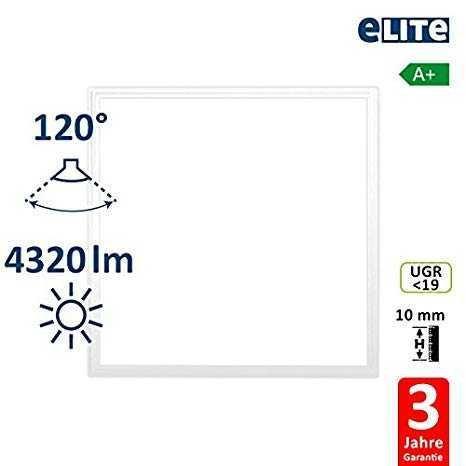 LED Panel 62x62cm 48W 4320lm 3000K, weiß UGR<19
