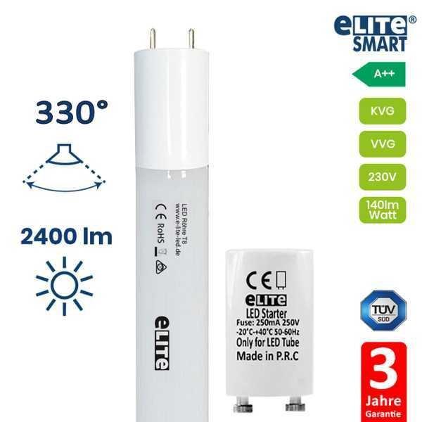 LED Röhre 1047mm T8, 17W 2400lm, 6500K Tageslichtweiß, Glas