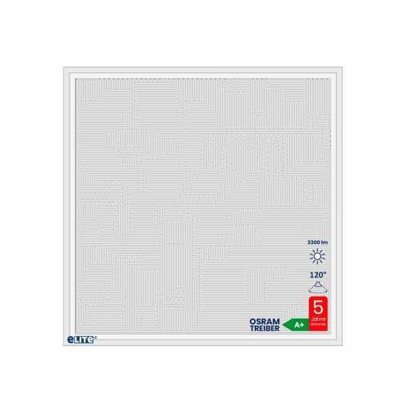 LED Panel Design Maze 62x62cm 30W 4000lm 6500K weiß