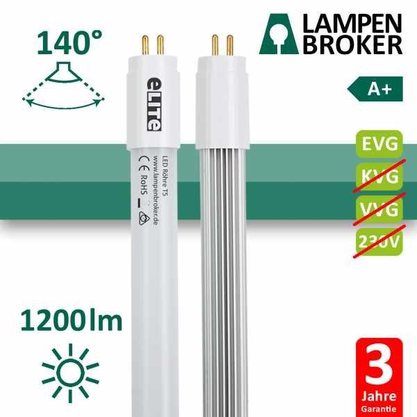 LED Röhre T5 549mm, 12W 1200lm, 3000K Warmweiß CRI:830